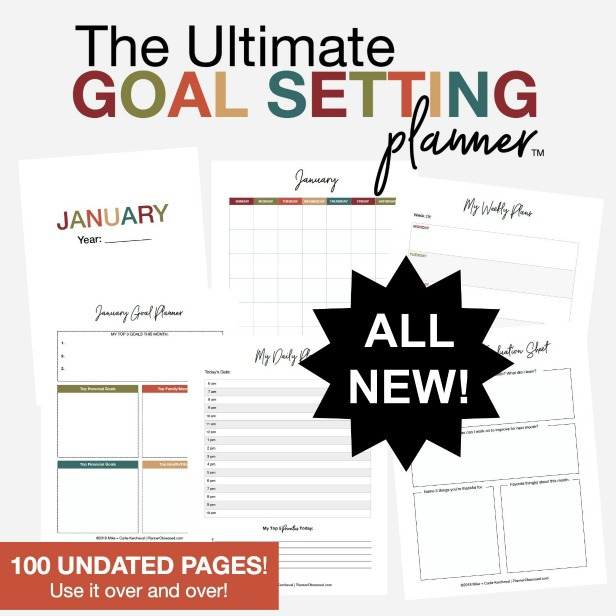 The Ultimate Goal Setting Planner - This is a must-have for moms who want to live their best life! - Kids Activities Blog