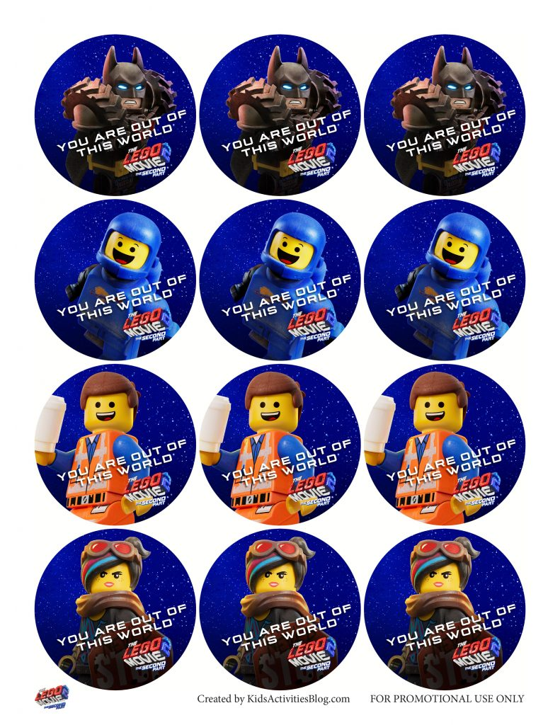 LEGO Movie 2 Printable Tags