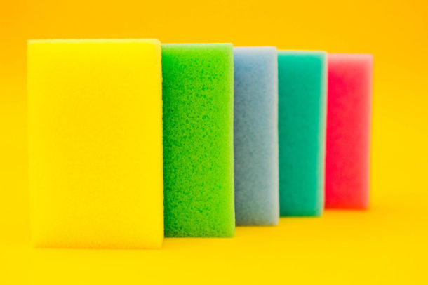 Stack of sponges to use for DIY fabric softener