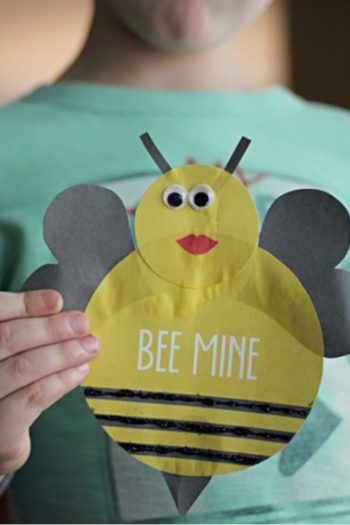 bumblebee valentine craft