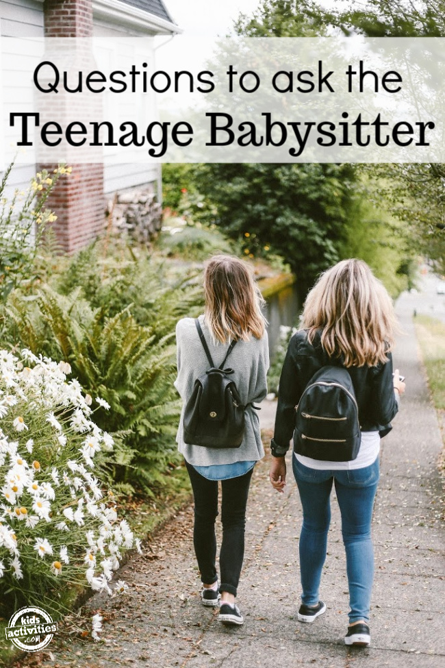Questions to Ask the Teenage Babysitter