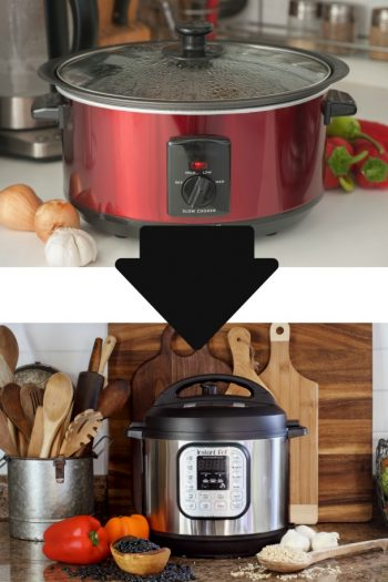 slow cooker to instant pot arrow