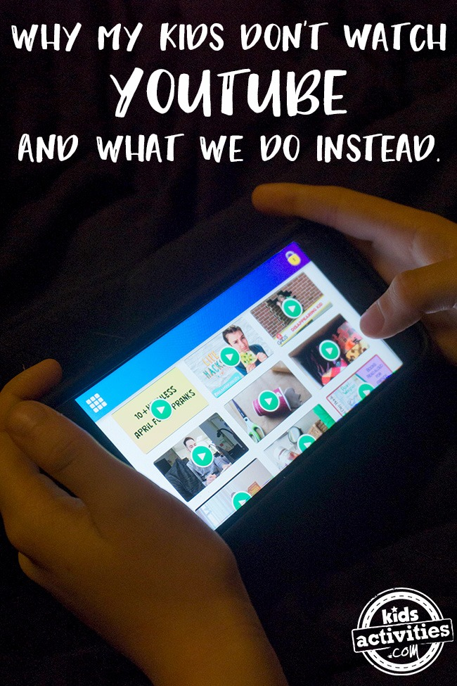 Why My Kids Don't Watch YouTube