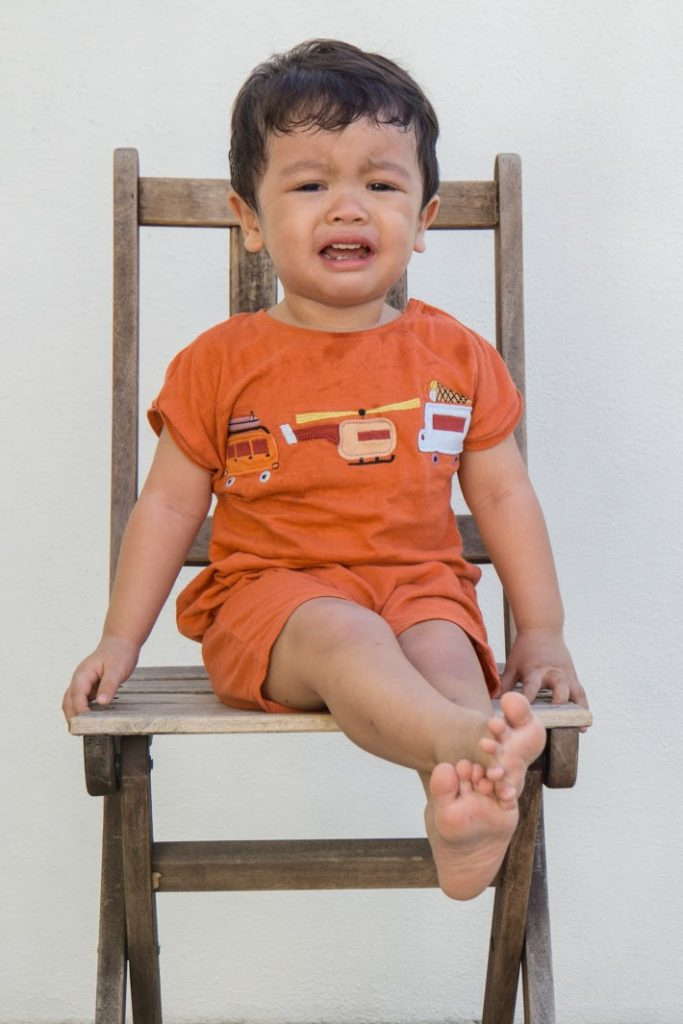 Toddlers who throw tantrums likely to be rich - child on chair - Kids Activities Blog