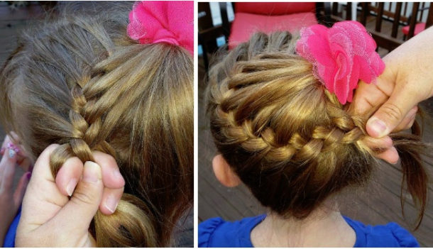 How to Make a Braided Bun from ponytail