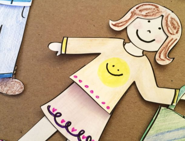 Screen free games like playing with paper dolls