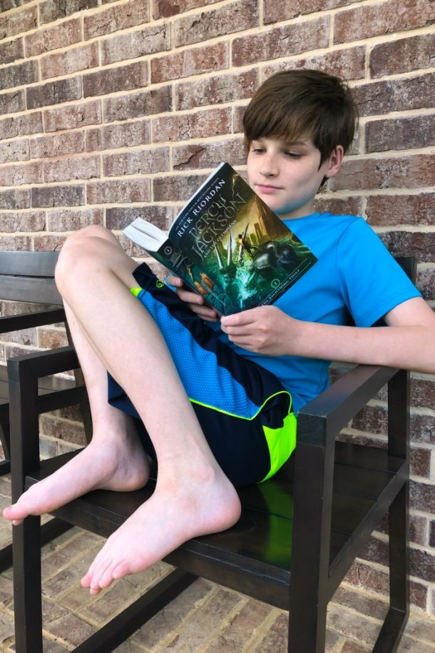 Reading the Lightning Thief - Percy Jackson