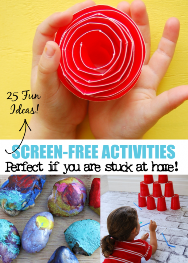 screen-free activities for kids - stuck at home
