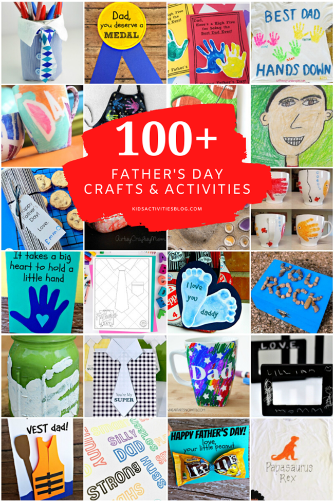 mega list of crafts and activities for fathers day from kids