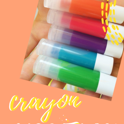 make your own lipstick from melted crayons