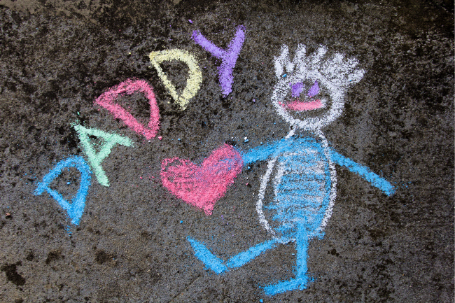 chalk drawing of daddy