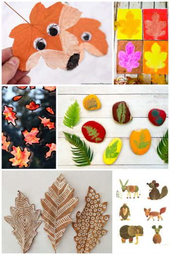 Fall Leaf Crafts for Kids featured on Kids Activities Blog
