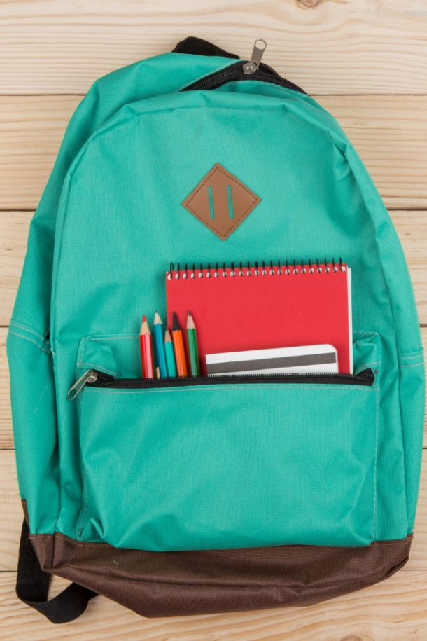 back to school guide: backpack, paper, notebook, pencils
