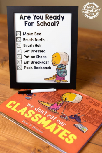 Printable School Morning Checklist Inspired By A Beloved Children's Book