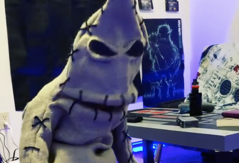 This Mom Made Her Son An Oogie Boogie Costume and It's So Cute, I Can't Believe My Eyes!