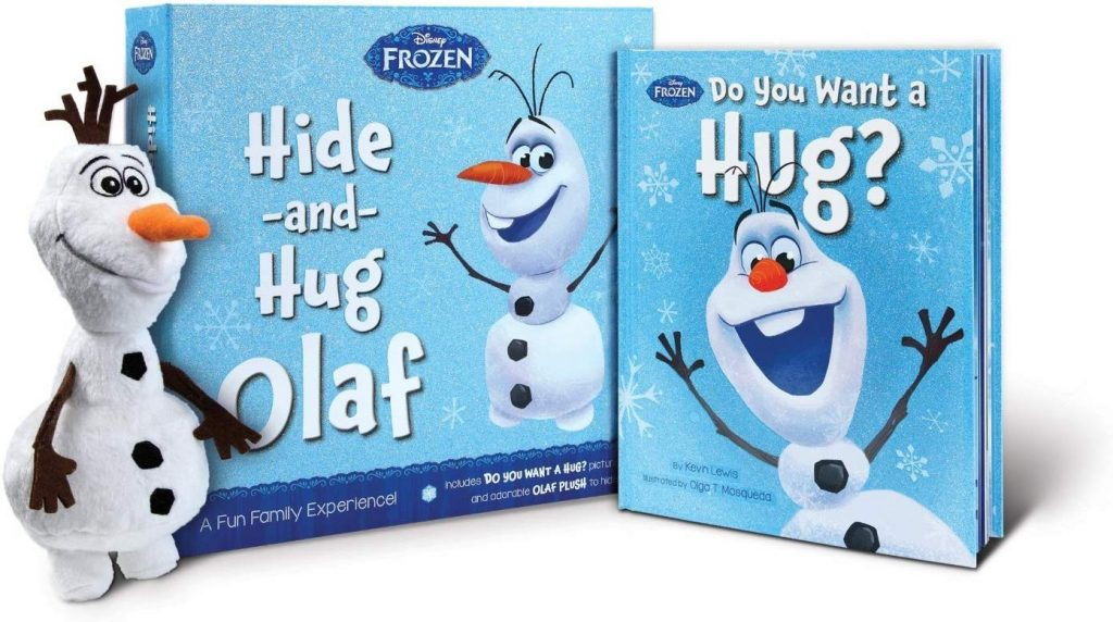 Hide and Hug Olaf is Frozen's best toy yet, it comes with a do you want a hug and a snowman plush.