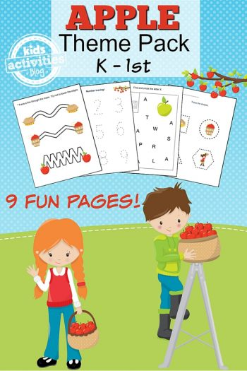 apple themed kindergarten worksheets