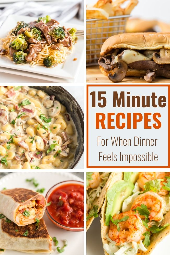 15 Minute Recipes