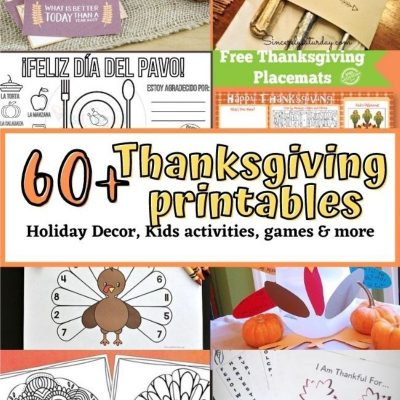 collection of thanksgiving printables for free