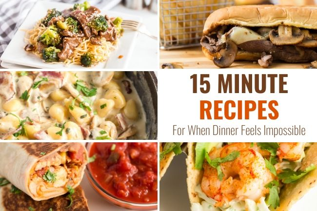 5 dinner recipes that take 15 minutes