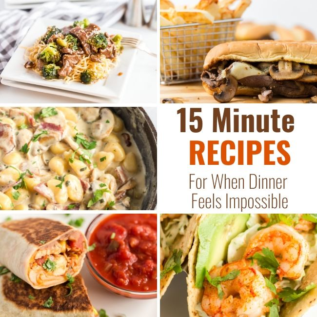 Recipes for when dinner feels impossible
