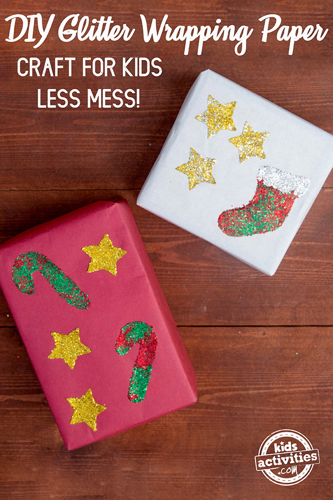 DIY Glitter Wrapping Paper Post