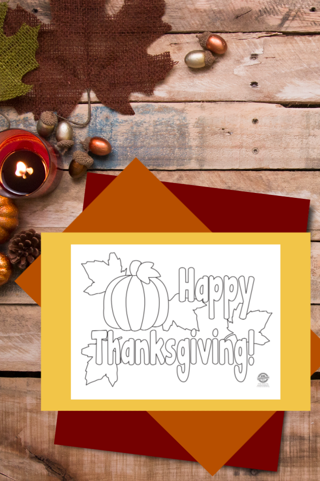 Thanksgiving Coloring Pages & Festive Placemats