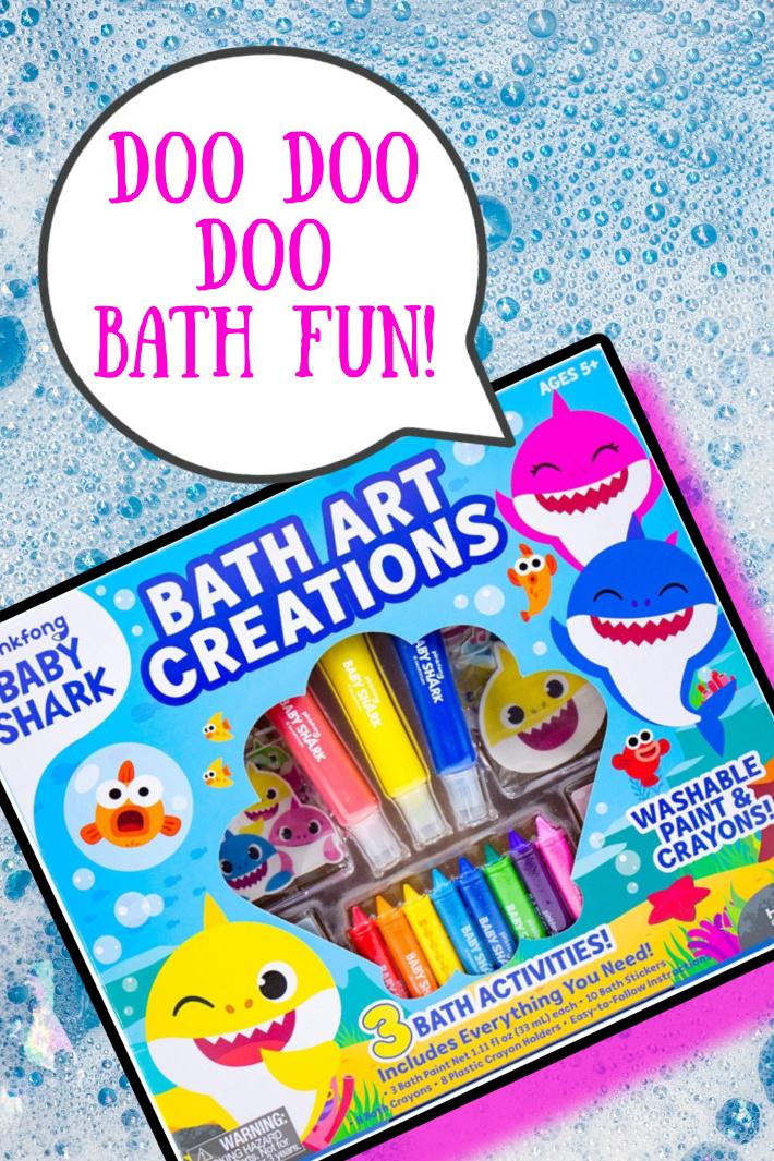 You Can Get Baby Shark Crayons So Your Kid Can Doo Doo Doodle In The Bath