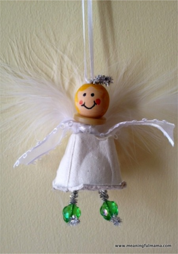 Christmas angel egg carton craft