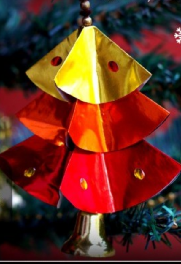 DIY christmas paper tree ornaments