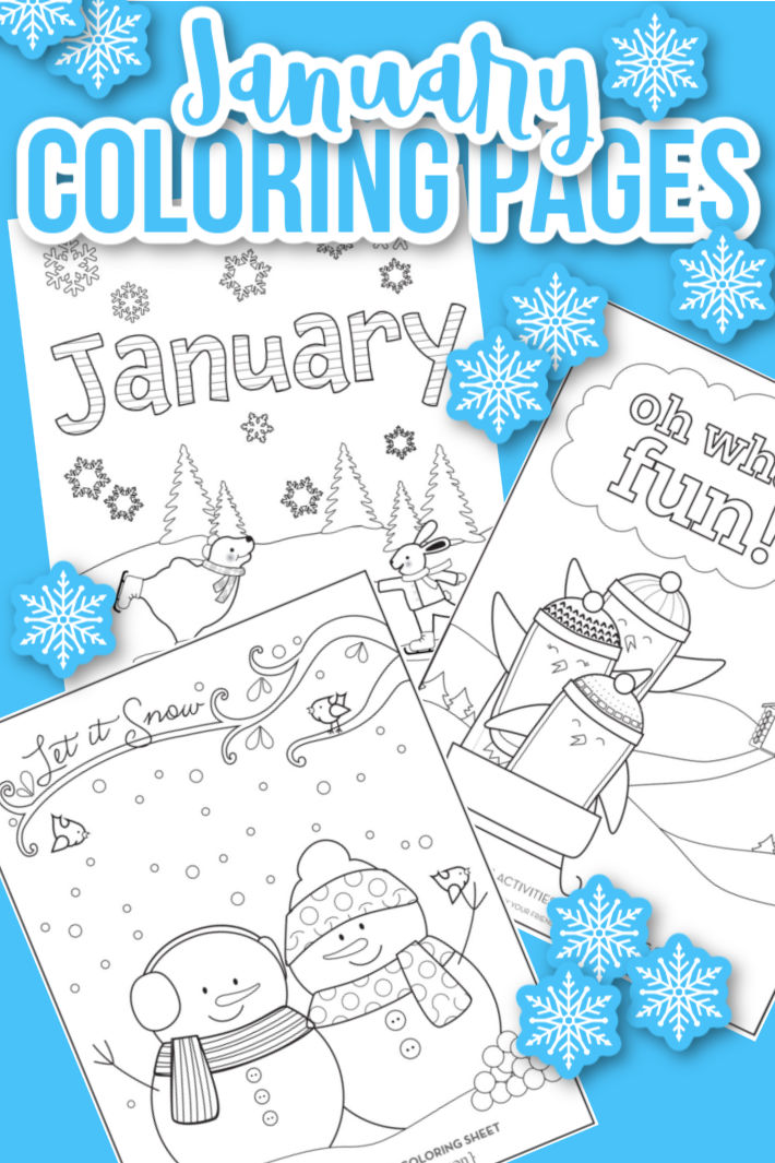 Happy 2021! Check Out These January Coloring Pages Kids Activities Blog