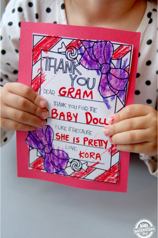Fill-in-the-Blank Holiday Thank You Cards