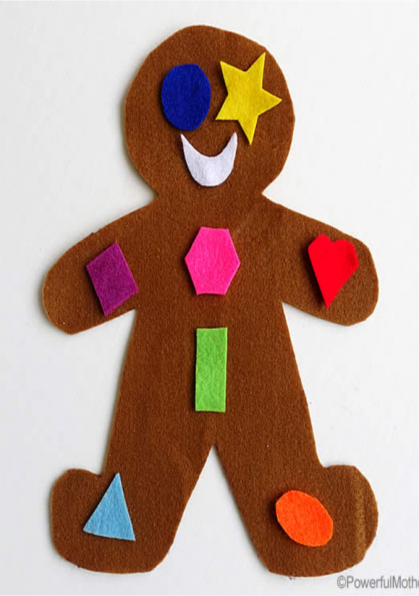 gingerbread man shape busy bag