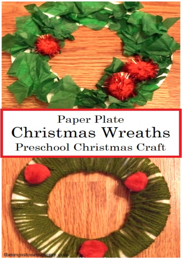 homemade paper plate Christmas wreaths