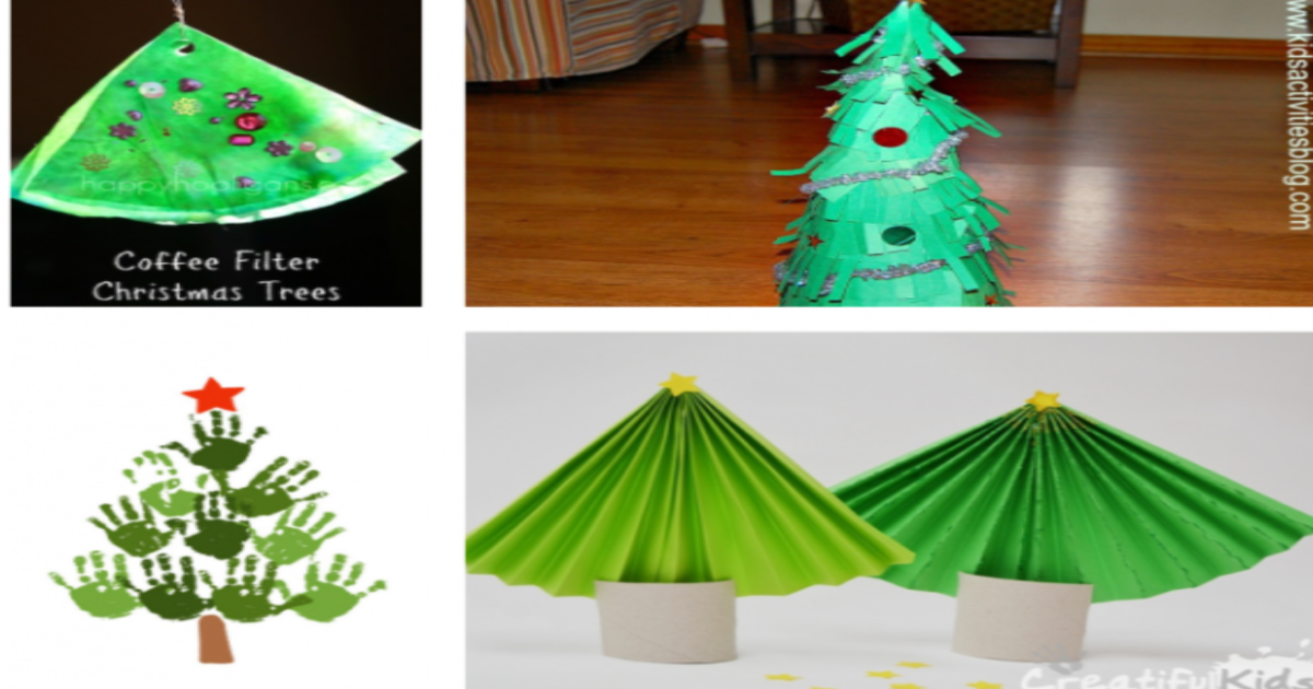 11 Creative Christmas Tree Crafts For Kids To Keep The Festivities Going