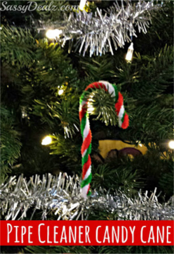 pipe cleaner candy cane craft