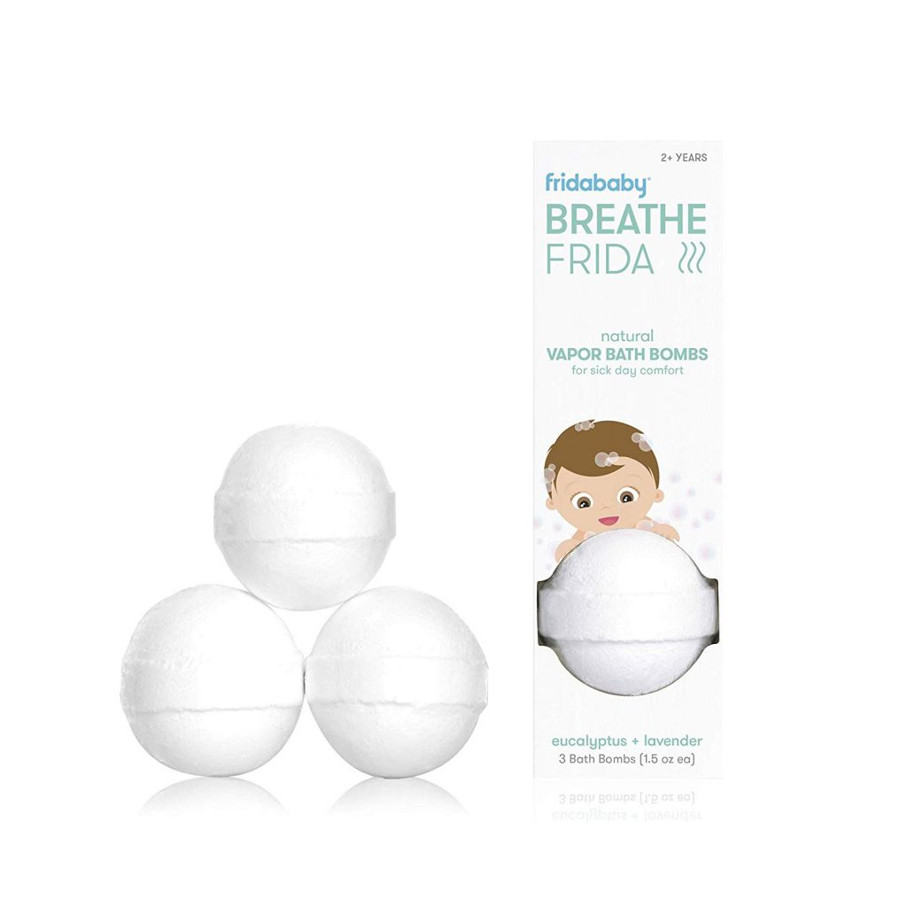 Fridababy Breathe Bath Bombs for Baby - natural Vapor bath bombs for sick day comfort