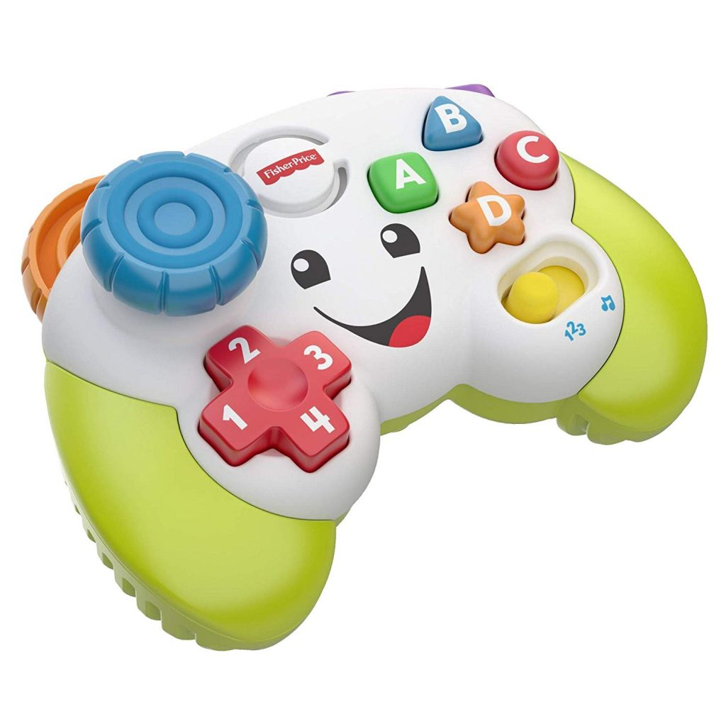 toy controller - fisher price toy remote - holds secrets and has a smile on its face