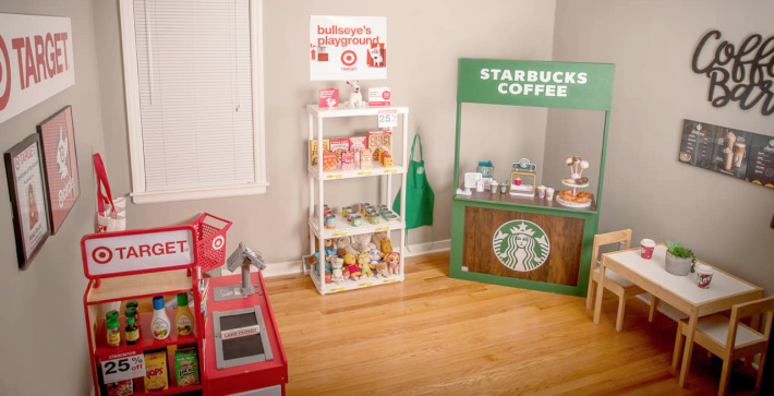 DIY Target and Starbucks themed playroom for Kids - Kids Activities Blog