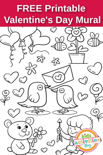 Printable Valentine's Day Mural (FB)