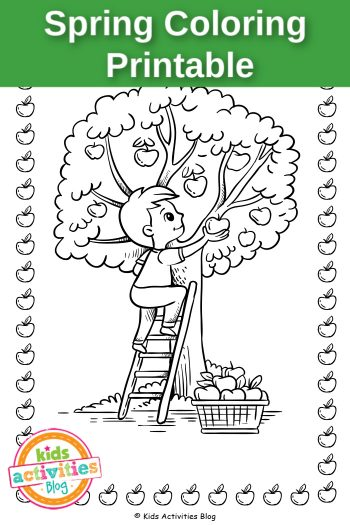 Spring Coloring Printable