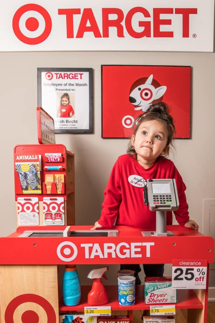 This Mom Built Her Daughter A Target and Starbucks Playroom and Now I Want One Too