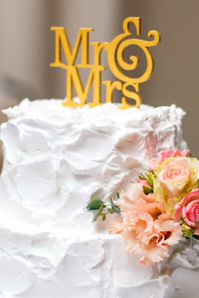 Wedding cake hacks to save money on an expensive wedding cake - Costco - Kids Activities Blog - wedding cake with mr and mrs on top