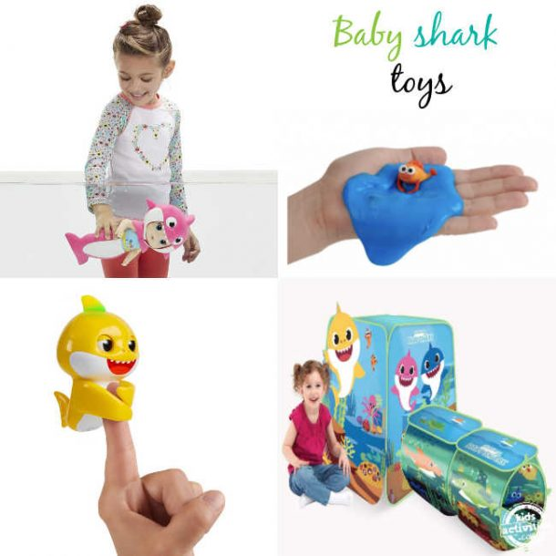 Baby shark toys like baby sahrk alive doll, baby shark slime, Baby shark fingerlings,baby shark play tent