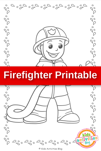 Firefighter Printable