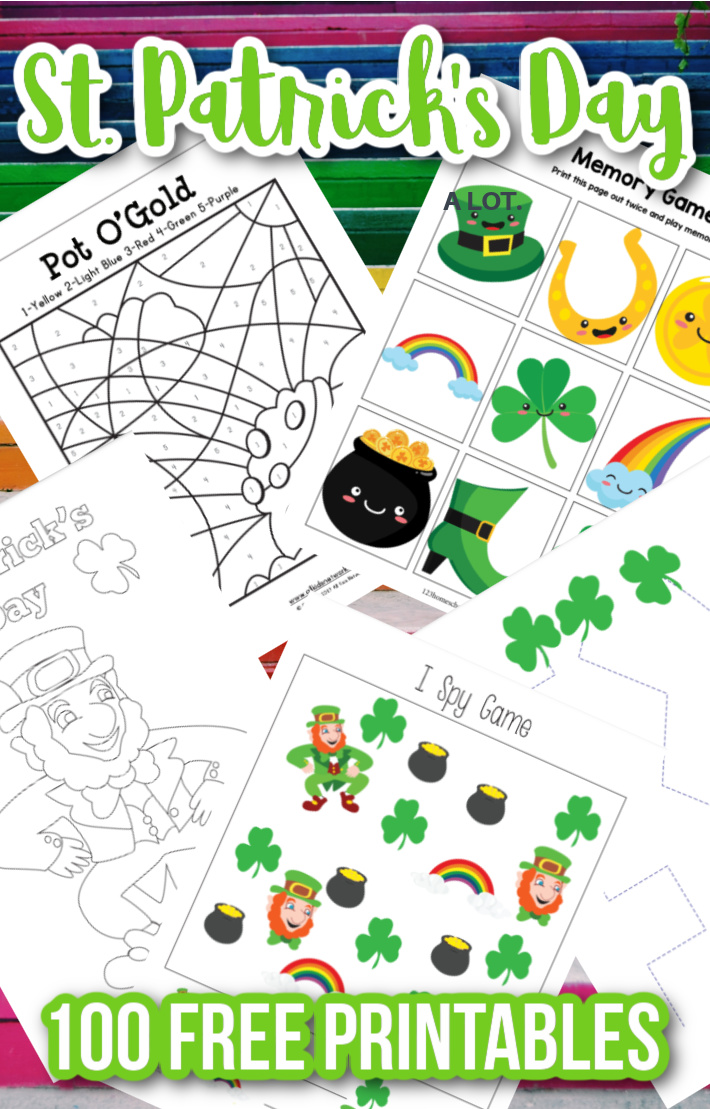 100+ Free St. Patrick's Day Printables – Worksheets, Coloring Pages & Leprechaun Trap Templates!