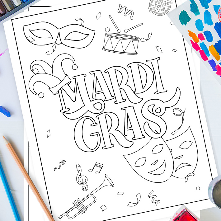 Mardi Gras coloring pages for kids - Kids Activities Blog