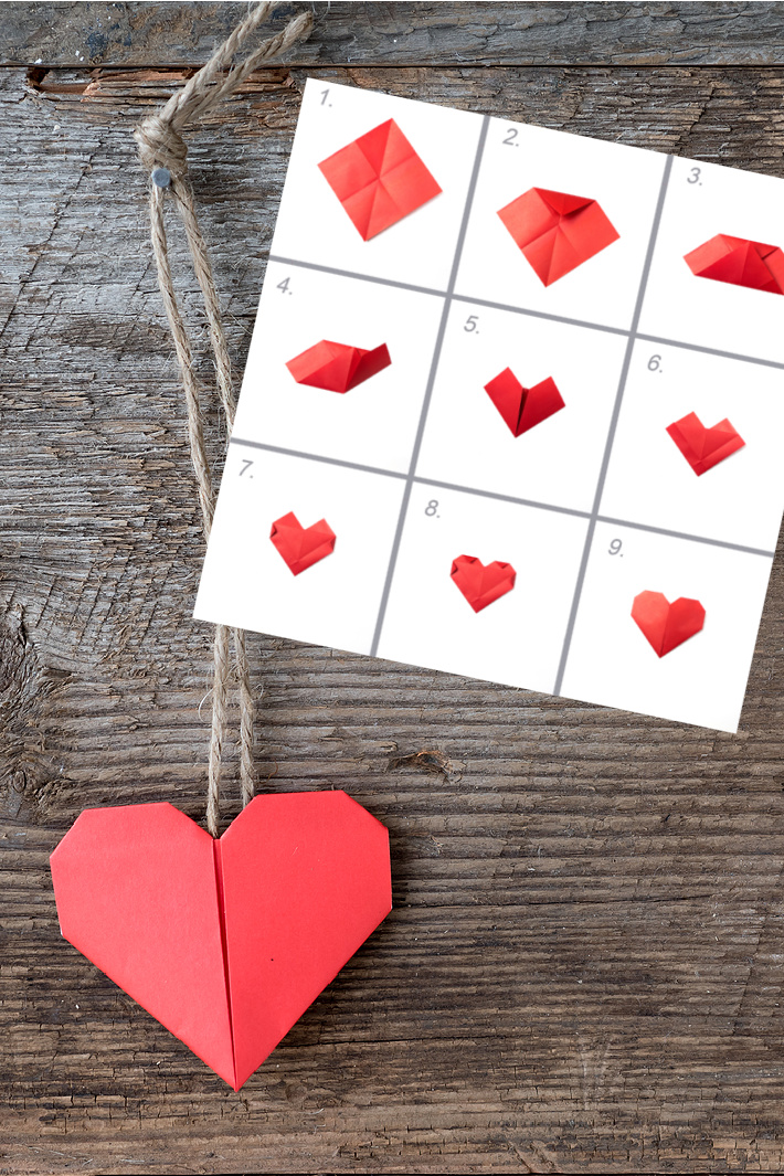 Two Ways to Fold an Origami Heart Card for Valentines