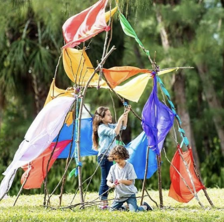 You Can Get Rubber Connectors That Easily Let Your Kids Build A Fort Out of Sticks