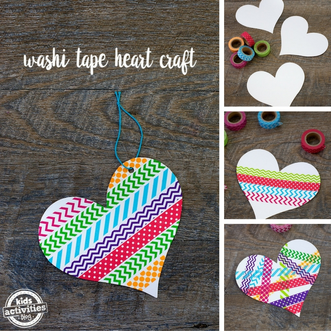 Washi-Tape-Heart-Craft - steps to make the craft